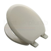 Bemis 5000 INDIAN IVORY Coloured Moulded Wood Toilet Seat and Cover with Adjustable Plastic Hinges