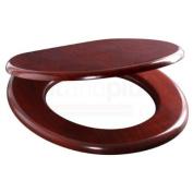 Wood Mahoganny MDF Wood Toilet Seat with Metal Bar Hinge