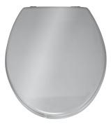 Wenko 152256100 Prima Toilet Seat, Silver Coloured