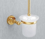 MT Wall Mounted Toilet Brush and Holder,Gold #MT28A