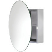 Croydex Severn Stainless Steel Circular Mirror Cabinet
