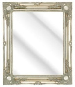 SILVER Swept Frame Wall Overmantle MIRROR Shabby Chic Style, Lots of sizes 7.6cm Moulding