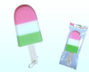 Ice Cream Iced Lolly Foam Bath Sponge with Wooden Handle
