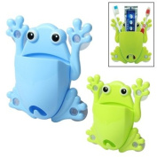 Frog Toothbrush Holder with 4 Suction Cups