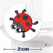Toilet Training Sticker - 10 x Ladybird Stickers