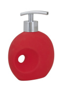 Wenko 19560100 330 ml 11.5 x 16 x 6.5 cm Soap Dispenser Hole Soft Touch Ceramic, Red