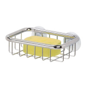 InterDesign Forma Ultra Suction Soap Dish, Polished Stainless Steel