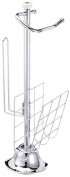 Top Star 280837 Toilet Roll Holder with Magazine Rack 56 cm Chromed