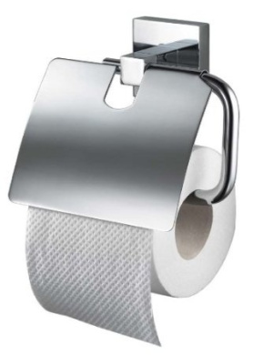 Haceka 28130110 Mezzo Chrome Toilet Paper Holder with Lid