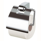 "Spirella 26cm Opera Chrome"" Toilet Roll Holder with Cover"