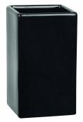 Spirella Quadro Toothbrush Holder Stoneware Black Height 10.5 cm x Width 6.5 cm