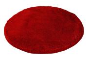 Kleine Wolke Relax 5405453521 Bath Mat 100 cm Round Ruby