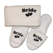 Bride Slippers & Towel Set