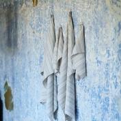 Birch Linen Bath Towels Set Multistripe
