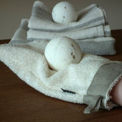 Cream Linen Glove Terry