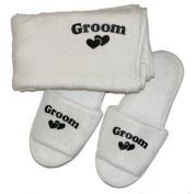 Groom Slippers & Towel Set