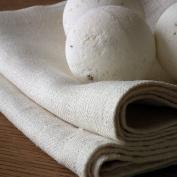 Set of 2 Cream Linen Hand and Guest Towels Lara