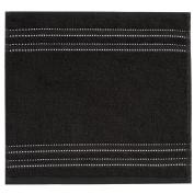 Vossen Cult de Luxe 1153240790 Facecloth / Flannel 30 x 30 cm Black