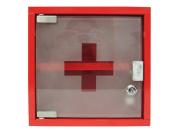 Zeller 18467 Medicine Cabinet 25 x 12 x 25 cm Metal Red