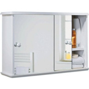 Sliding Door Bathroom Cabinet - White with Microfibre HSB Cleaning Glove