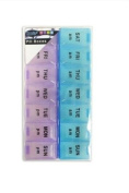 7 Day Pill Box Organiser Am Pm Large Compartment Dispenser Tablet New
