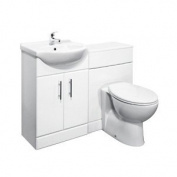 550mm Vanity Unit With Basin, Tap, Toilet with 600mm Wide Toilet Unit
