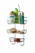 Premier Housewares 3-Tier Shower Caddy - 54 x 26 x 11 cm - Chrome
