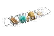 Premier Housewares 3-Compartment Bath Rack, Chrome