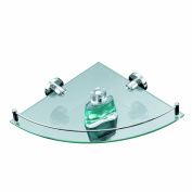 Axxentia Bad 282100 Corner Shelf 35x26 cm with Chrome-Plated Railing and Glass Base