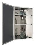 Corner Door Stainless Steel Bathroom Wall Mirror Cabinet Unit - 6111