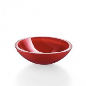 Acquaio glass washbasin in red glass