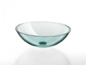 Glass washbasin in clear glass