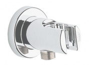 Grohe Shower Outlet Elbow includes Wall Shower Holder with Chrome Finish