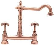 Tre Mercati French Classic Bridge Sink Mixer, Copper 185