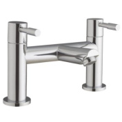 Lola 5 - Chrome Bathroom Bath Filler Mixer Tap With Modern Peg Levers