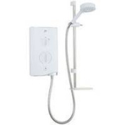 New Mira Sport 10.8kW White and Chrome Electric Shower