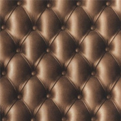 Chocolate Brown - 888803 - Leather Headboard Effect - Muriva Wallpaper