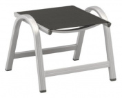 Kettler Basic Ottoman Chair, Aluminium, Frame Silver/Textile Anthrazit
