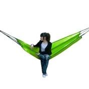 Green Nylon Hammock - Waterproof Outdoor Camping - Lightweight and Comfortable - for Garden / Beach / Patio/Summer
