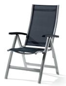 Sieger Montessa 940/A-G Folding Armchair Aluminium Textilux Graphite-Grey