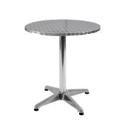Adjustable Stainless Steel Bistro Table Round 600mm diameter