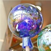 Garden sphere from glass blue