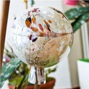 Garden sphere from glass alabaster