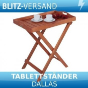 Tray Stand Folding tray table coffee table garden table oiled DALLAS