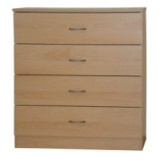 Beech Chest of Drawers 4 Drawer Selby Bedroom Furniture