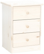 Steens Mario 17800313 Bedside Table 57 x 42 x 35 cm Solid Pine White Wash
