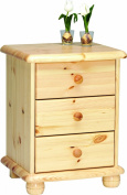 Steens Max 20220319 Bedside Table 61 x 46 x 40 cm Solid Pine Natural Varnish