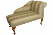 Beautiful Chaise Longue upholstered in a stripe wheat from The Pembroke Collection