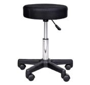 Massage Salon Spa Swivel Stool Beauty Facial Gas Lift Manicure Tattoo- Changeable Covers - Red, White & Black