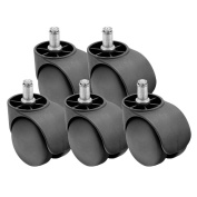 5 x 50mm Double Wheel Office Computer Chair Castors Set HEAVY DUTY,HIGH QUALITY,BEST PRICE ON AMAZON,FAST POSTAGE